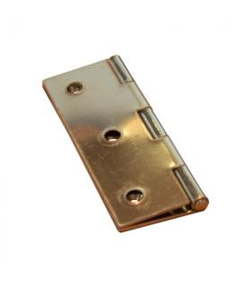 Rectangular hinge 75x50 mm polished stainless steel 1.3mm