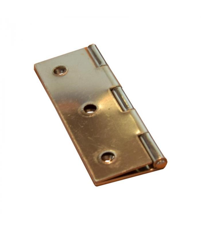 Charnière rectangulaire 75x50 mm inox poli ép 1.3mm
