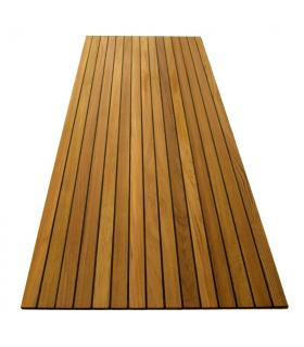 Burmese teak jointed panel 500 x 600 x 8 mm, TDS black caulking joint