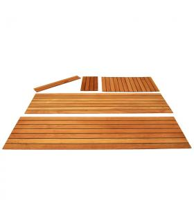 Jointed Panels with slats, 50x8/7 mm L200x100cm