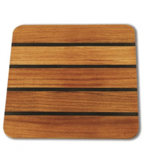 Smooth table mat 20x20cm Burmese teak